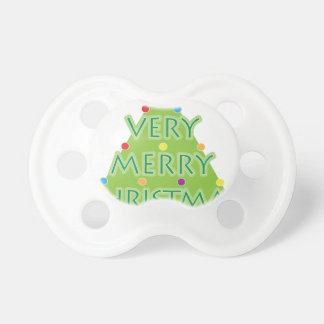 a very merry christmas pacifier
