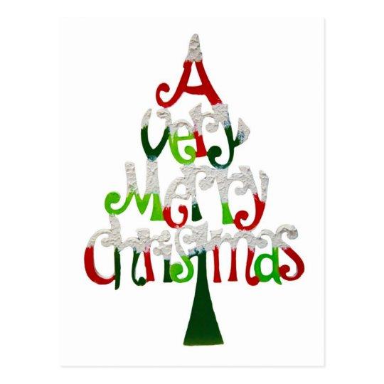 A Very Merry Christmas Postcard