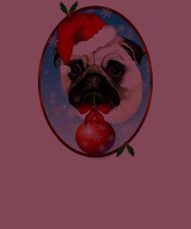 A Very Merry Christmas Pug Oval Shirt