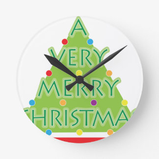 a very merry christmas round clock