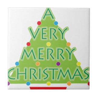 a very merry christmas tile