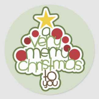 A Very Merry Christmas To You Sticker