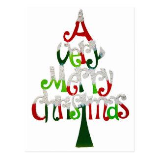 A very Merry Christmas tree Postcard