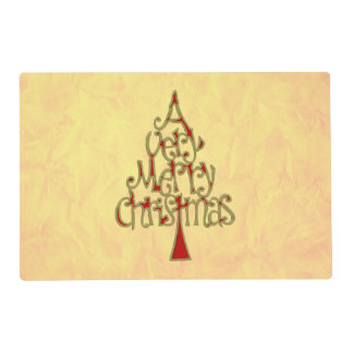 A Very Merry Christmas Tree + your backgr. & ideas Placemat