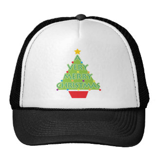 a very merry christmas trucker hat