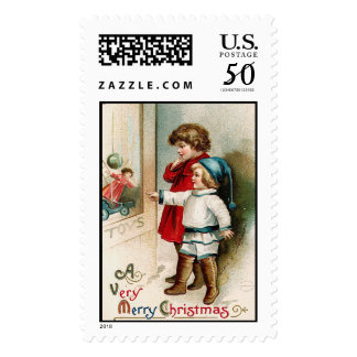 A Very Merry Christmas Vintage Christmas Stamps