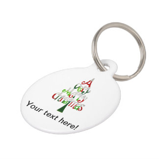 A very Merry Christmass typo Christmas tree Pet ID Tag