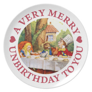 A Very Merry Unbirthday To  You! Dinner Plate