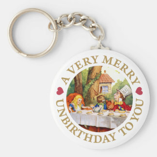 A VERY MERRY UNBIRTHDAY TO YOU! KEY CHAINS