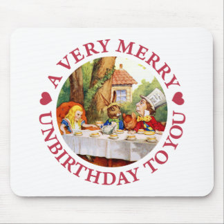 A Very Merry Unbirthday To  You! Mouse Pad