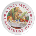 A Very Merry Unbirthday To  You! Party Plate