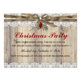 A Very Merry Vintage Christmas Party Invite