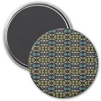 a very nice geometric pattern 3 inch round magnet