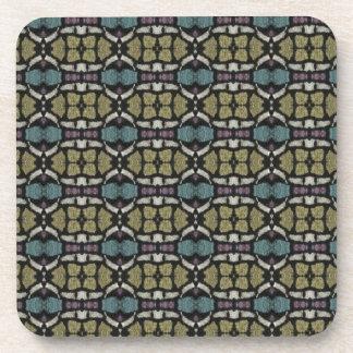 a very nice geometric pattern beverage coaster