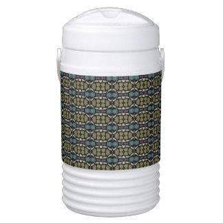 a very nice geometric pattern beverage cooler