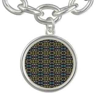 a very nice geometric pattern charm bracelet
