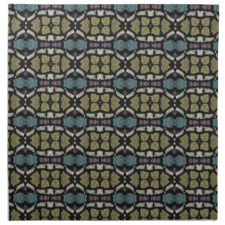 a very nice geometric pattern cloth napkin
