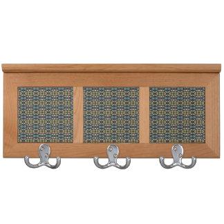 a very nice geometric pattern coat rack