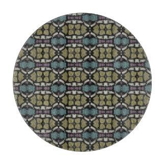 a very nice geometric pattern cutting board