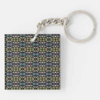 a very nice geometric pattern Double-Sided square acrylic keychain