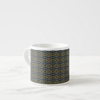 a very nice geometric pattern espresso cup