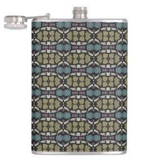 a very nice geometric pattern flask