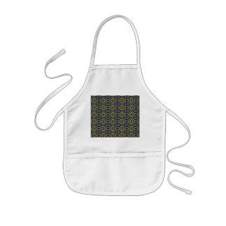 a very nice geometric pattern kids' apron
