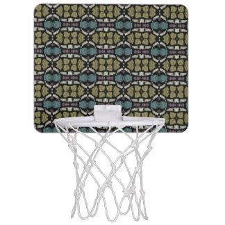 a very nice geometric pattern mini basketball backboard