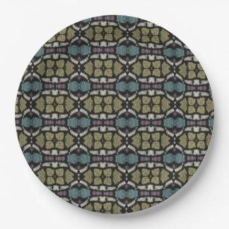 a very nice geometric pattern paper plate