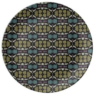 a very nice geometric pattern plate