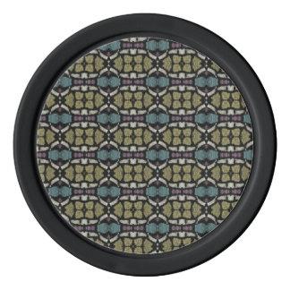 a very nice geometric pattern poker chips