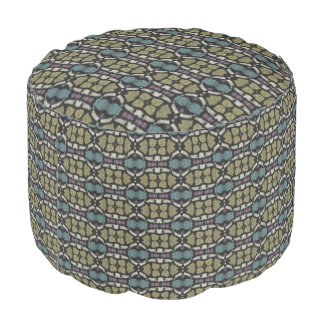 a very nice geometric pattern pouf