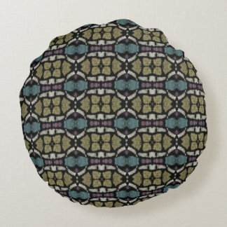 a very nice geometric pattern round pillow