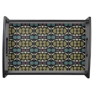 a very nice geometric pattern serving tray