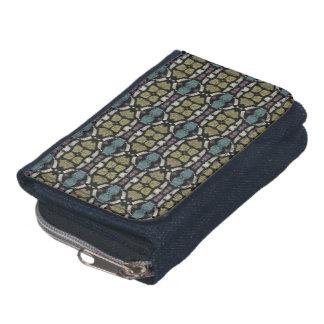 a very nice geometric pattern wallet