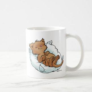 A very nice kitten sleeps! Sleeping Kitty Coffee Mug