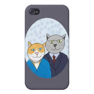 A Very Nice Kitty Couple iPhone 4 Case