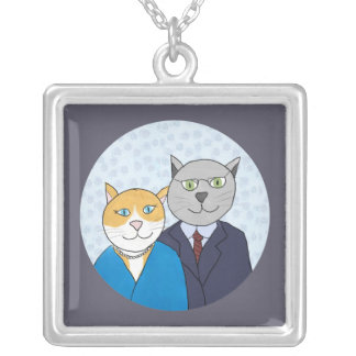 A Very Nice Kitty Couple Necklace