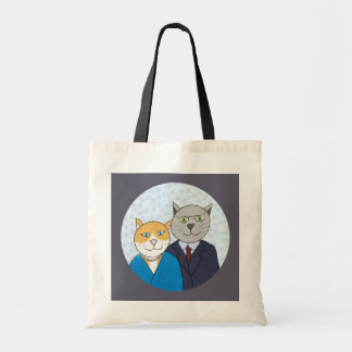 A Very Nice Kitty Couple Tote Bag