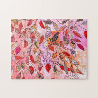 a very pink branch jigsaw puzzle