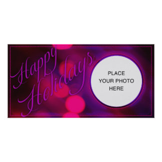 A Very Pink Holiday Custom Photo Card
