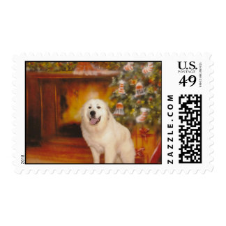 A Very Pyr Christmas Postage Stamps
