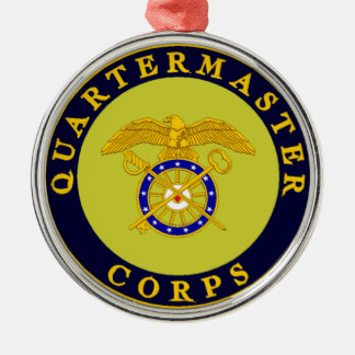 A Very Quartermaster Holiday Metal Ornament
