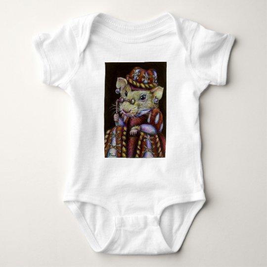 A very respectable rat baby bodysuit