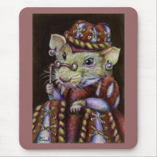 A very respectable rat mouse pad