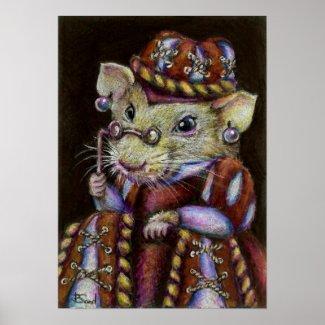 A very respectable rat print
