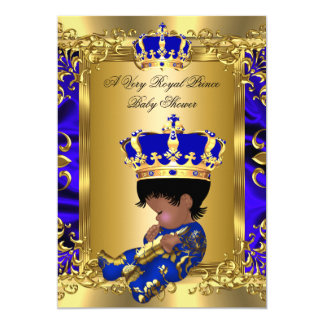 very royal prince baby shower ethnic card
