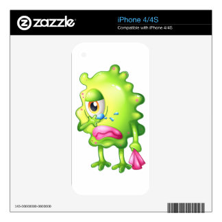 A very sad monster iPhone 4S skin