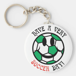 A Very Soccer Day! Basic Round Button Keychain