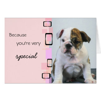 A Very Special Boxer Puppy Birthday Greeting Card
